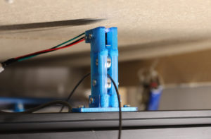 Filament sensor and guide installed