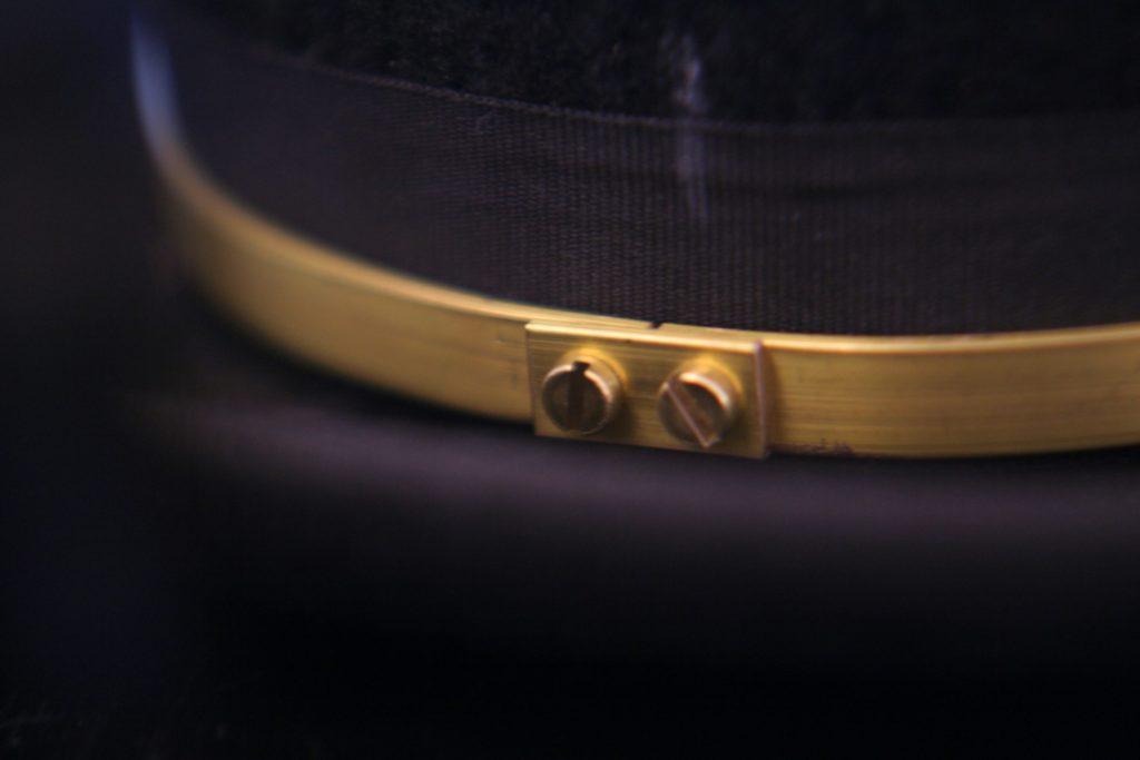 Hatband detail