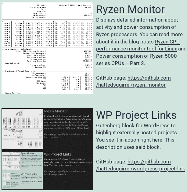 Screenshot of wordpress-project-link